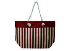 Straw Bag, Red/White