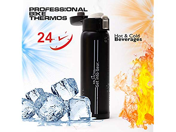 R.M.Stone Bike Water Bottle Adjustable Cage 16Oz Insulated Hot /& Cold Thermos