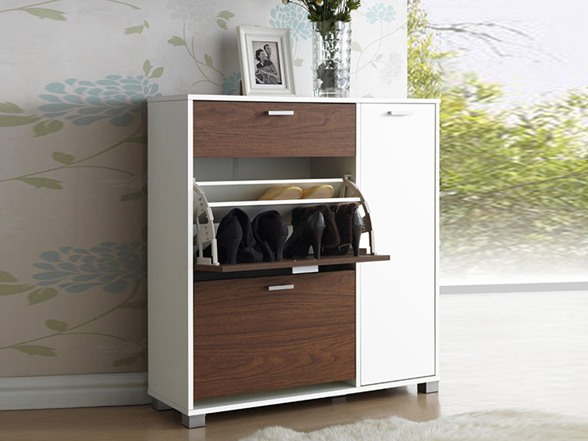 chicago shoe storage cabinet walnut wht
