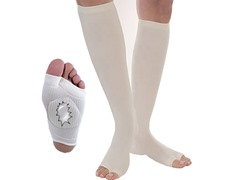 Drainer Compression  Therapy Socks L-White