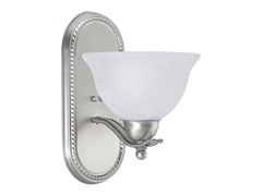 1-Light Bath Bracket, Brushed Nickel