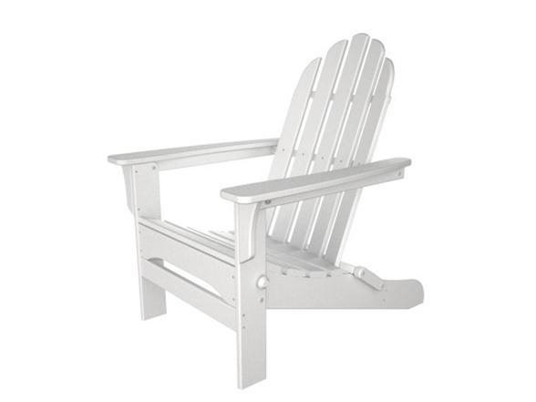 Heavy Duty Sun Lounger, Folding White Wood Adirondack Chair