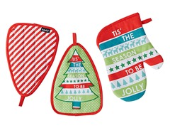 Jolly Stripe 2Pc Pot Holder/Mitts