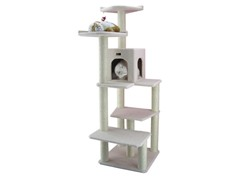 "68"" Classic Cat Tree Ivory"