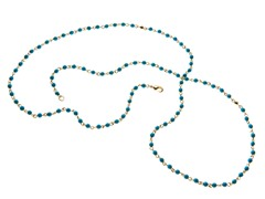 18k Plated Turquoise Stone Necklace