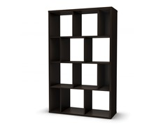 Room Divider Wall Storage - Chocolate