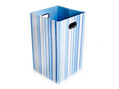 Sky Stripes Canvas Folding Laundry Bin