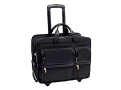 "Clinton Nylon 17"" Wheeled Laptop Case"