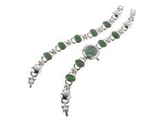 Ladies Watch, Bracelet Set, Green Dial
