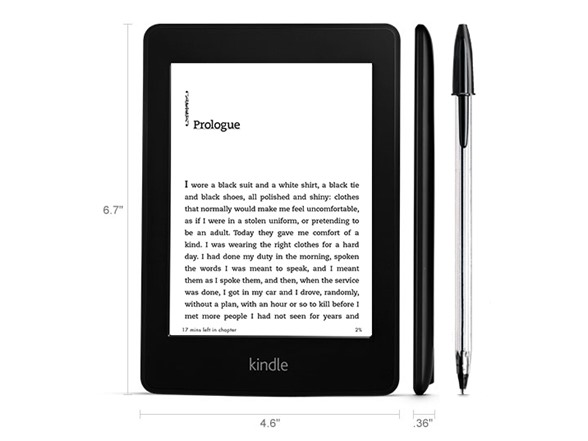 Kindle Paperwhite (2nd Generation) Wi-Fi E-Reader 6' 2GB Storage, WIFI- $49.99 + $5 shipping @woot online deal