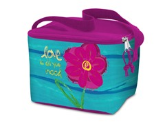 Lunch Cooler Bag- Flower Pink