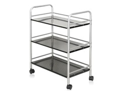 Xiannan Metal 3-Tray Rolling Cart