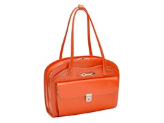 Lyndon Leather Ladies Briefcase - Orange