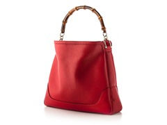 Gucci Diana Bamboo Shoulder Bag, Red