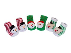 3-Pack of Holiday Rattle Socks - Infant