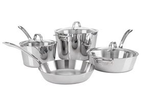 Viking 7Pc 3-Ply Stainless Cookware Set