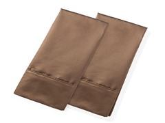 800TC 100% Cotton Pillowcases-S/2-Mocha-2 Sizes