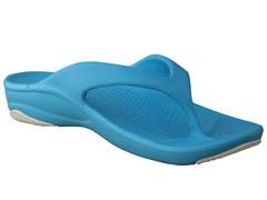 Women's Premium Flip Flop, Peacock / White