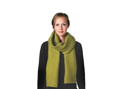 DHS Long Pleece Scarf- Apple Green