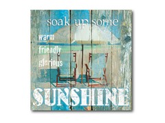 "Sunshine Canvas Wall Art - 16""x16"""