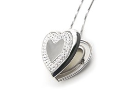 Sterling Silver & Crystal Heart Locket