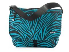 Yak Pak Messenger Bag - Turquoise Zebra