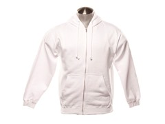 Full Zip-Up Hoodie - White