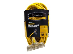 50Ft. 14/3 Lighted 3 Tap Extension Cord