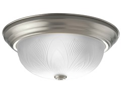 2-Light Close-To-Ceiling, Brushed Nickel