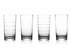 Medallion 20oz Highball Glasses (4)