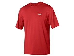 Fila Men's Red Heathered Crew
