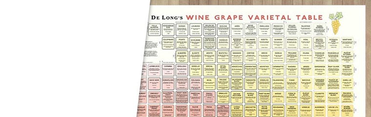 De Long Wine Grape Varietal Table
