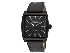 Unisex Black Leather Watch