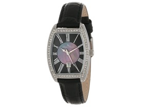 Lucien Piccard Women's Crystal Set Square Watches