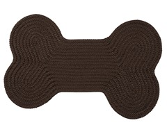 Mink Dog Bone Solid Rug - 3 Sizes