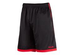 Athlete's Training Shorts, Black/Red (S)