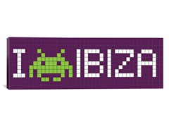I Invade Ibiza Tile Art 36x12 Thin