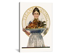 Woman Holding Platter w/Turkey (2-Sizes)