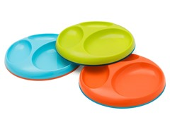 Boon Saucer Stayput Plate 3Pk -Org Multi