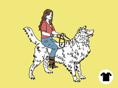 Girl Riding Collie