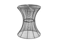 Round Metal Accent Table - Silver