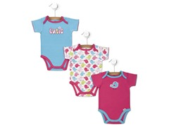Cutie 3-Pk Short-Sleeve Bodysuits (0-9M)