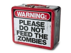 ZOMBIE WARNING Tin Lunch Box