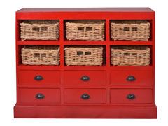Nantucket Chest - Red