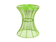 Round Metal Accent Table - Green