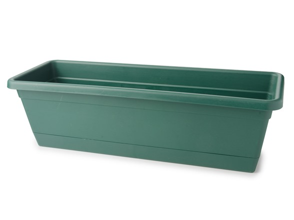 24 inch basic window box 12 pack green