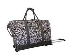 Rolling Weekender-Gray Leopard