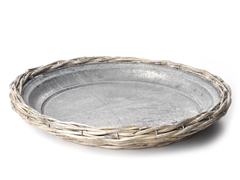 Willow Plate with Zinc Insert 12.5""