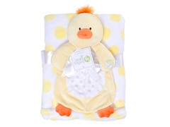 Yellow & White Blanket Set w/ Duck