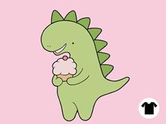 Cupcakeosaur Remix - Light Pink